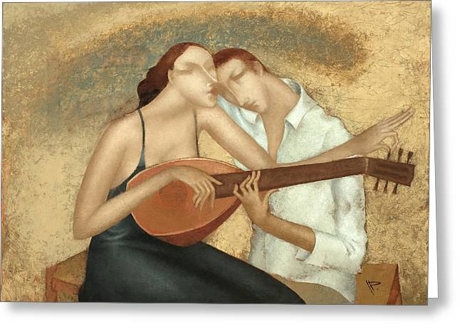 Duet Greeting Cards - Duet Greeting Card by Nicolay  Reznichenko
