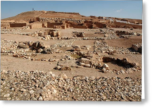 Ancient Ruins Greeting Cards - Ebla, Syria Greeting Card by Catherine Ursillo