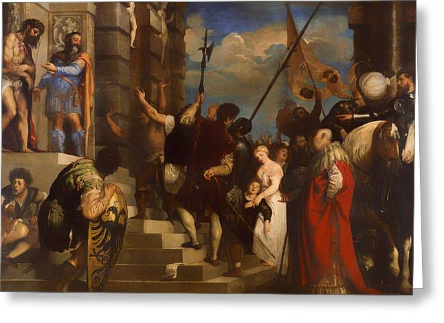 Ecce Paintings Greeting Cards - Ecce Homo Greeting Card by Titian