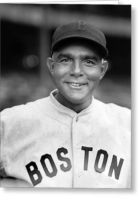 Boston Red Sox Greeting Cards - Edmund J. Bing Miller Greeting Card by Retro Images Archive