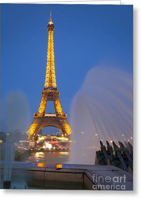 Trocadero Greeting Cards - Eiffel Tower Greeting Card by Brian Jannsen