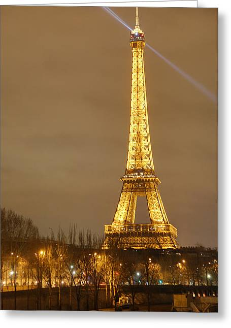 Citys Greeting Cards - Eiffel Tower - Paris France - 011318 Greeting Card by DC Photographer