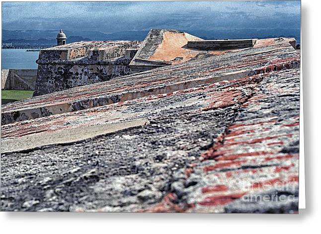 Old San Juan Greeting Cards - El Morro Fortress Old San Juan Greeting Card by Thomas R Fletcher