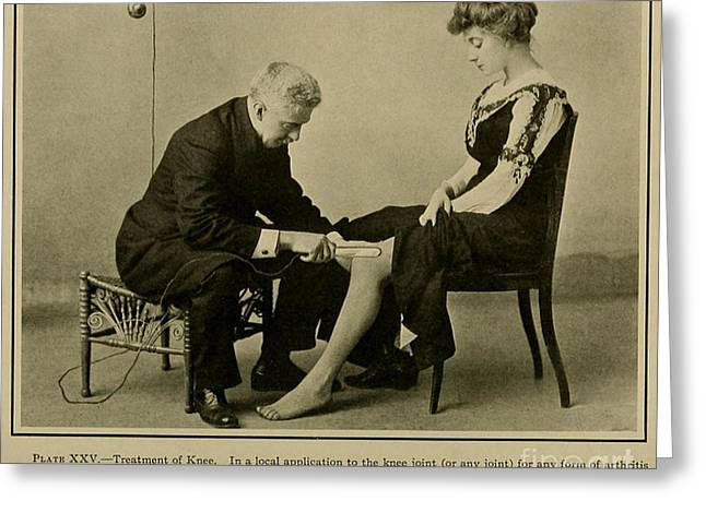 Knee-high Greeting Cards - Electro-therapeutics, 1910 Greeting Card by Science Source