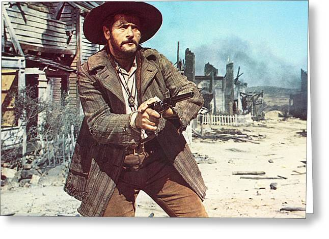 The Good The Bad Greeting Cards - Eli Wallach in Il Buono, il brutto, il cattivo Greeting Card by Silver Screen