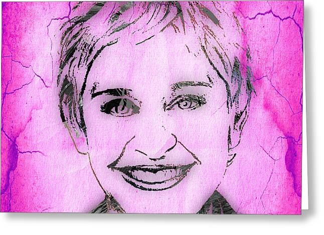 Hip Greeting Cards - Ellen Degeneres Collection Greeting Card by Marvin Blaine