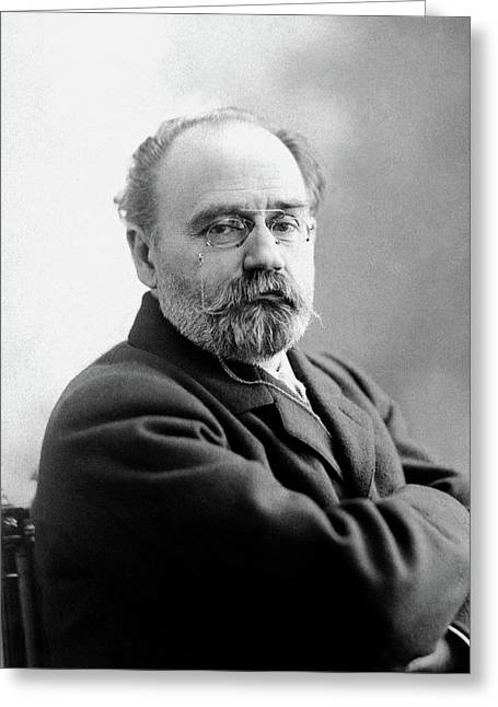 Emile Zola (1840-1902) Greeting Card by Granger
