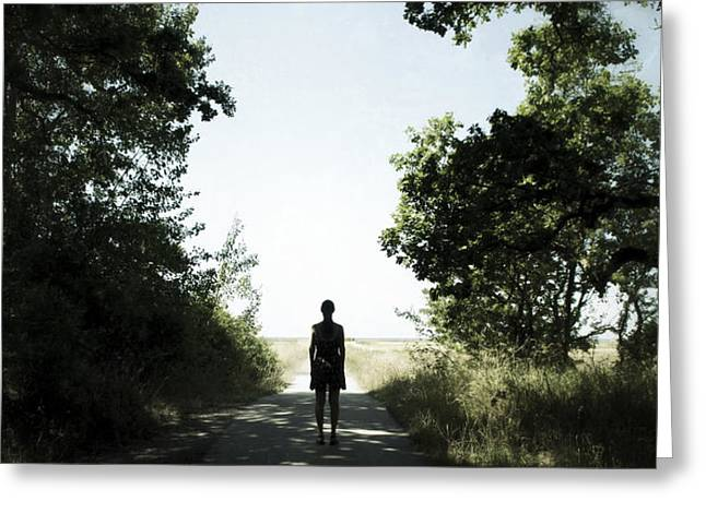 Hope At The End Of The Tunnel Greeting Cards - End Of The Road Greeting Card by Martin Llado