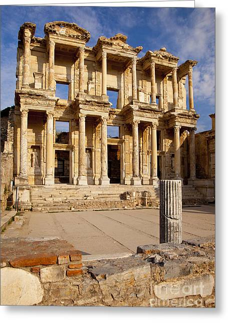 Library Of Celsus Greeting Cards - Ephesus Turkey Greeting Card by Brian Jannsen