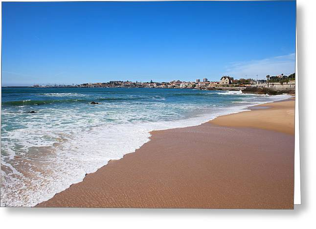 Uncrowded Greeting Cards - Estoril Beach in Portugal Greeting Card by Artur Bogacki