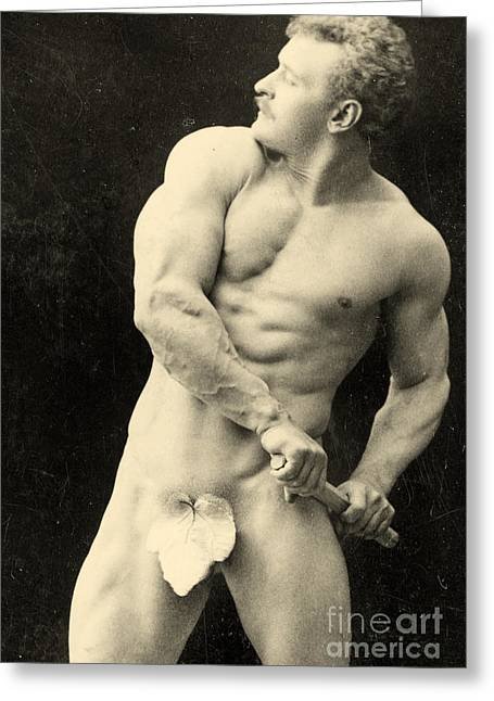 Physical Body Photographs Greeting Cards - Eugen Sandow Greeting Card by George Steckel