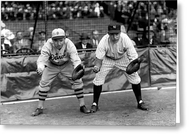Detroit Tigers Photos Greeting Cards - Eugene F. Bubbles Hargrave Greeting Card by Retro Images Archive