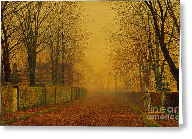 Fall Photographs Paintings Greeting Cards - Evening Glow Greeting Card by Celestial Images