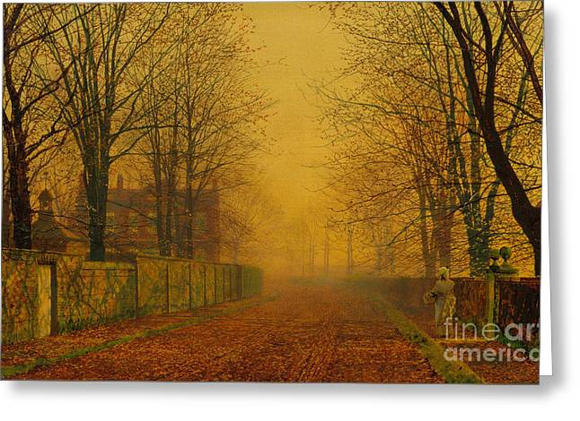 Fall Photographs Drawings Greeting Cards - Evening Glow Greeting Card by Celestial Images