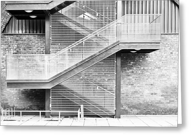 Staircase Greeting Cards - Exterior stairs Greeting Card by Tom Gowanlock