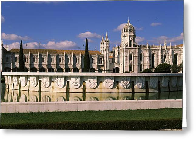 Mediterranean Series Greeting Cards - Facade Of A Monastery, Mosteiro Dos Greeting Card by Panoramic Images