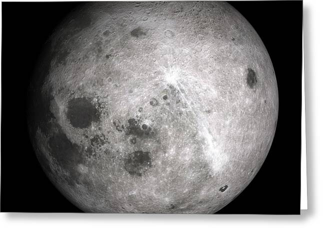 Luna Greeting Cards - Far Side Of The Moon Greeting Card by Detlev van Ravenswaay
