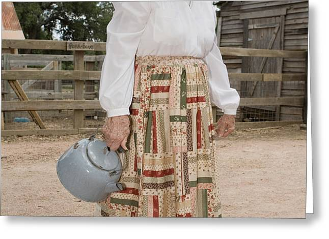 Farm Woman  Greeting Card by Jim Pruitt