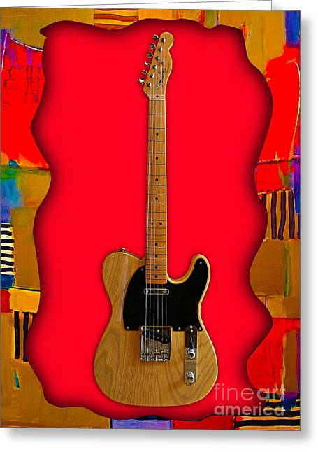 Pop Mixed Media Greeting Cards - Fender Telecaster Collection Greeting Card by Marvin Blaine