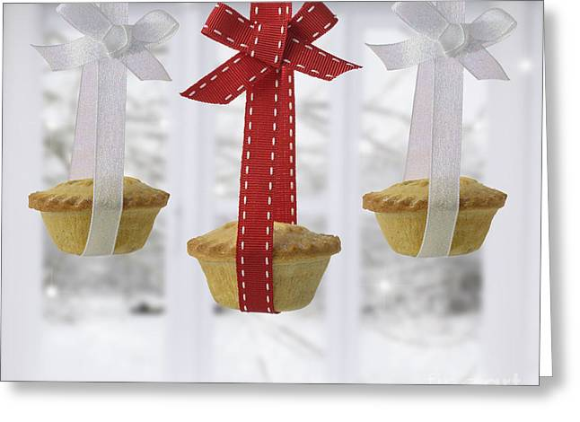 Sweetmeats Greeting Cards - Festive Mince Pies Greeting Card by Amanda And Christopher Elwell