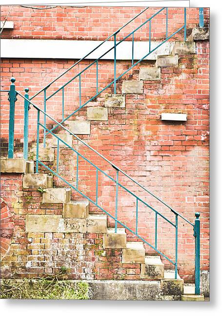 Stepping Stones Greeting Cards - Fire escape Greeting Card by Tom Gowanlock