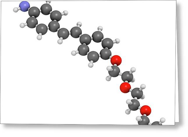 Florbetaben Radiopharmaceutical Molecule Greeting Card by Molekuul