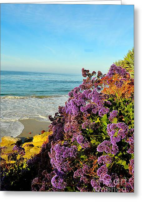 Beach Greeting Cards - Flowers at the Beach Greeting Card by Timothy OLeary