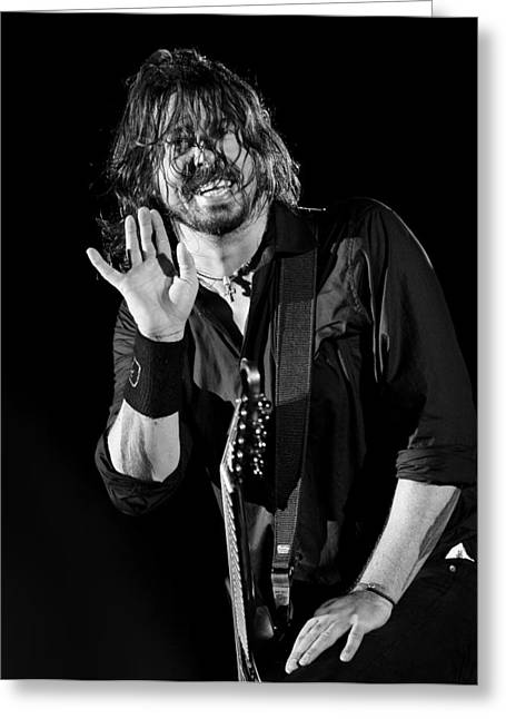 Live Music Greeting Cards - Foo Fighters Greeting Card by Ben James