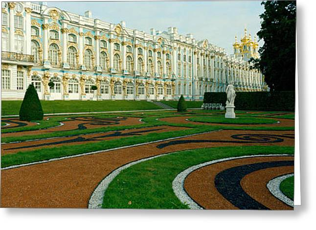18th Century Greeting Cards - Formal Garden In Front Of The Palace Greeting Card by Panoramic Images