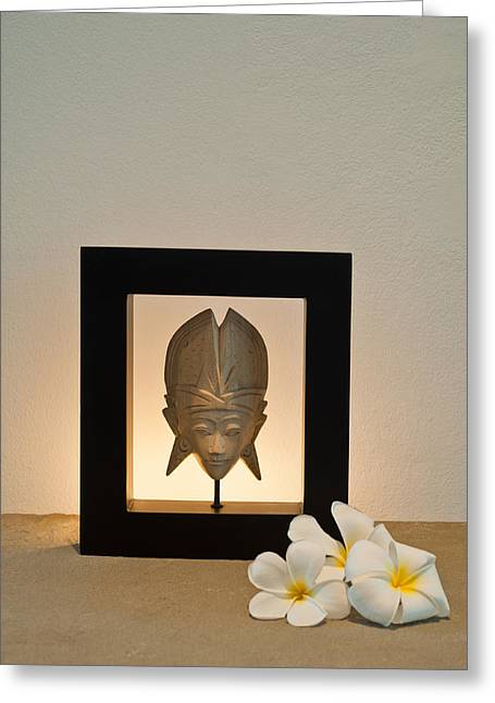 Thai Art Greeting Cards - Frangipani  Greeting Card by Ulrich Schade