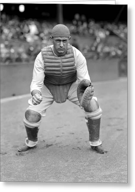 Stance Greeting Cards - Franklin W. Frankie Hayes Greeting Card by Retro Images Archive