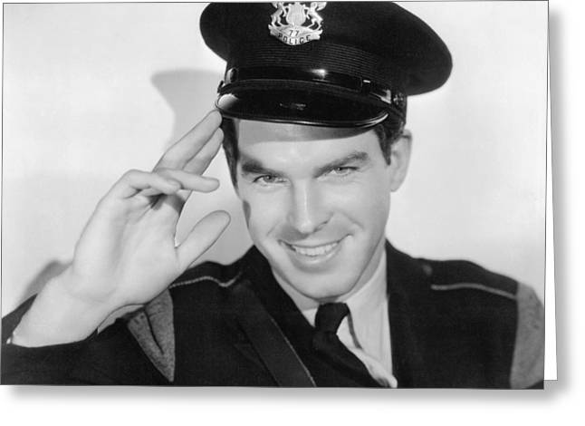 Fred Greeting Cards - Fred MacMurray Greeting Card by Silver Screen