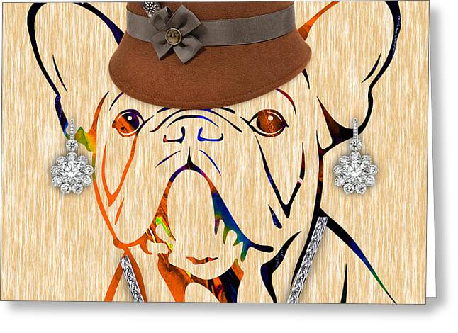 Dog Greeting Cards - French Bulldog Collection Greeting Card by Marvin Blaine