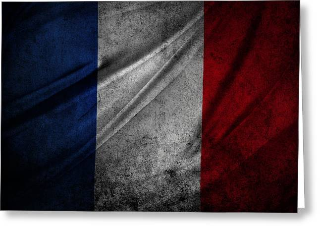 French Flag Greeting Cards - French flag Greeting Card by Les Cunliffe