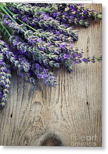 Mythja Greeting Cards - Fresh lavender Greeting Card by Mythja  Photography