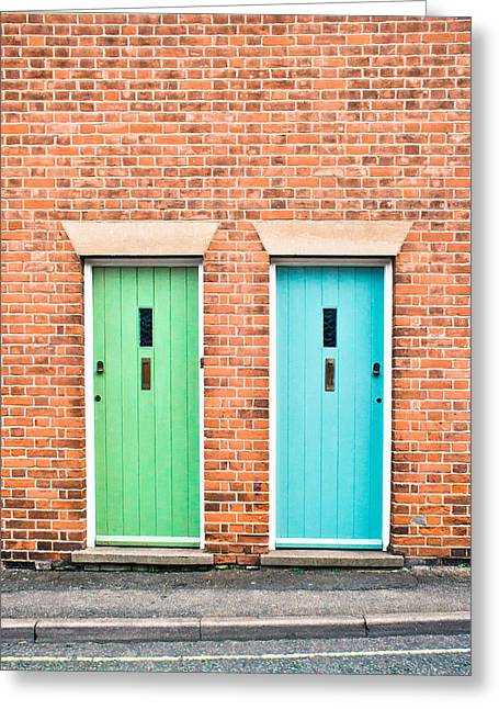 Entrance Door Greeting Cards - Front doors Greeting Card by Tom Gowanlock