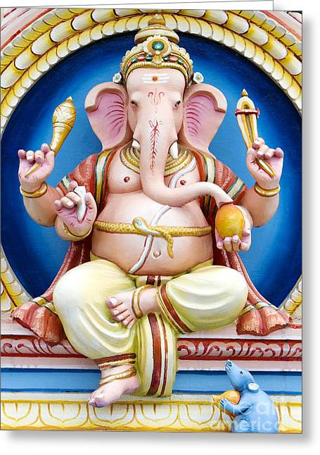 Spirituality Greeting Cards - Ganesha Greeting Card by Tim Gainey