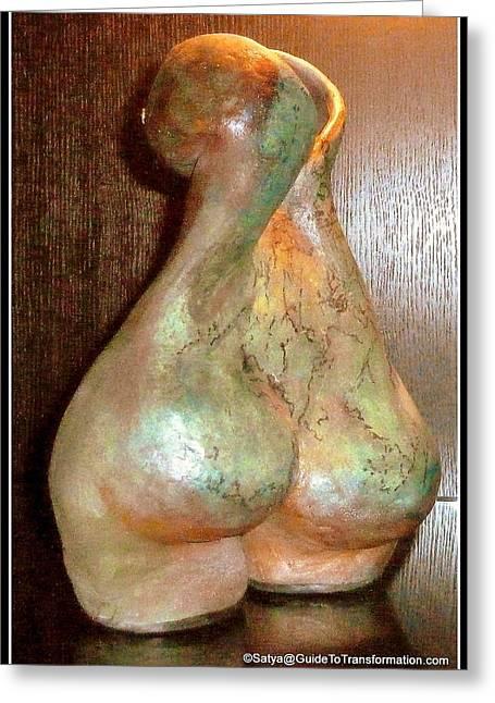 Naked Ceramics Greeting Cards - Garden of My Soul Greeting Card by Satya Winkelman