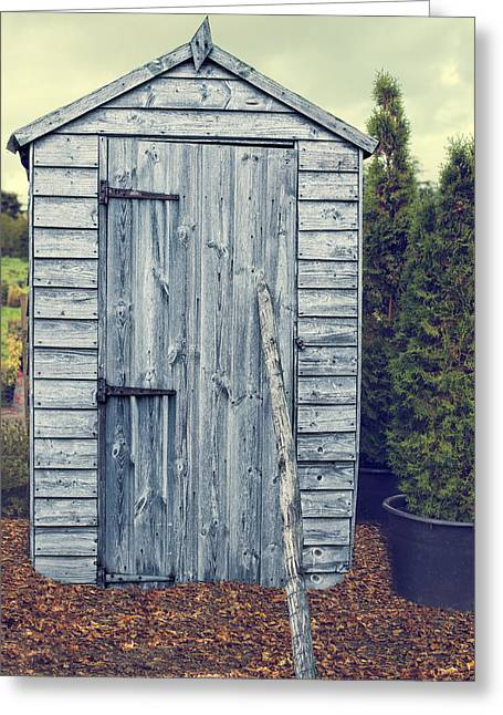 Garden Tools Greeting Cards - Garden Shed Greeting Card by Amanda And Christopher Elwell