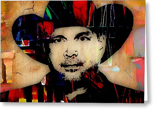 Garth Brooks Collection Greeting Card by Marvin Blaine