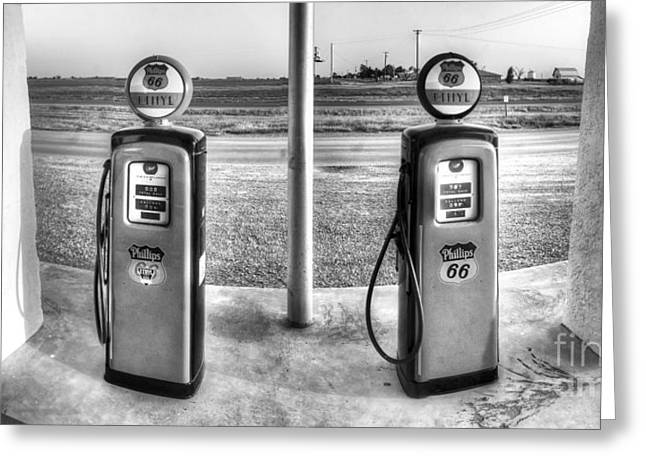 Gas Station On Route 66 Greeting Card by Twenty Two North Photography