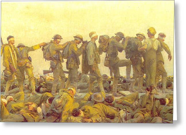 Wwi Greeting Cards - Gassed Greeting Card by John Singer Sargent