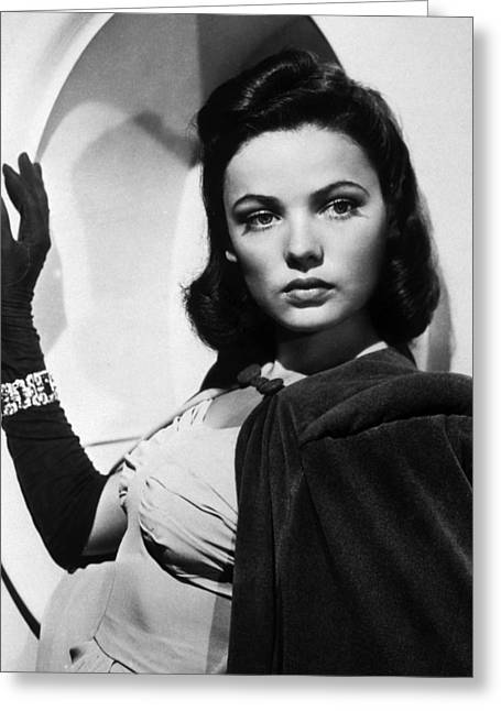 Genes Greeting Cards - Gene Tierney Greeting Card by Silver Screen