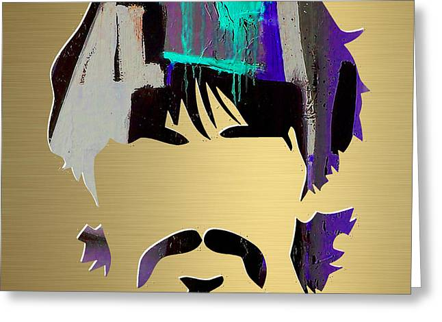 Pop Art Greeting Cards - George Harrison Gold Series. Greeting Card by Marvin Blaine