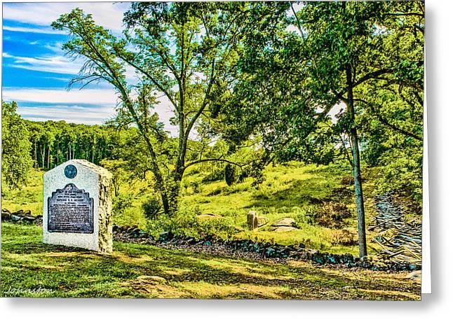 Gettysburg Battleground Greeting Card by  Bob and Nadine Johnston