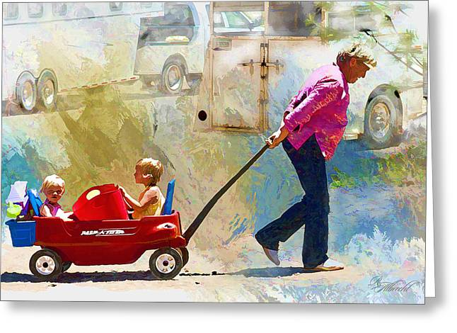 Western Western Art Greeting Cards - Giddy Up Grandma Greeting Card by Robert Albrecht