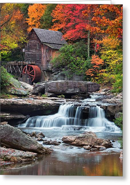 Grist Mill Greeting Cards - Glade Creek Grist Mill  Greeting Card by Emmanuel Panagiotakis
