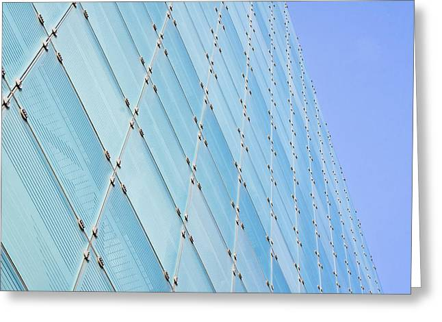 Glass Facades Greeting Cards - Glass building Greeting Card by Tom Gowanlock