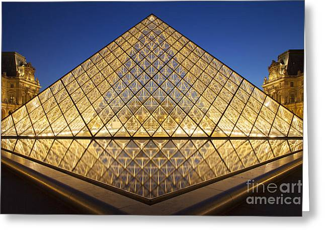 European Restaurant Greeting Cards - Glass Pyramid Greeting Card by Brian Jannsen