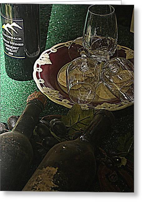 Razorbacks Photographs Greeting Cards - 3 Glasses Greeting Card by Ian  Ramsay